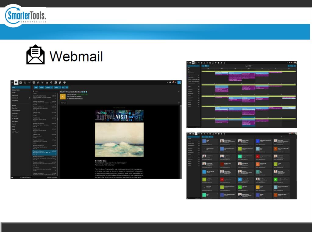 Screenshot SmarterMail Präsentation